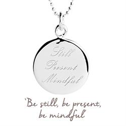 Still Present Mindful Mantra Necklace in Silver