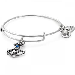 Anchor bangle in Rafaelian Silver Finish