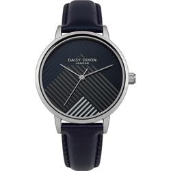 Daisy Dixon Silver Black Jade Stripe Dial Watch