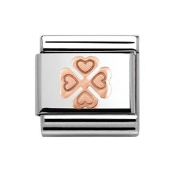 Rose Gold Four Leaf Clover