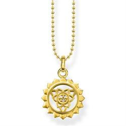 Yellow Gold Throat Chakra Necklace by Thomas Sabo