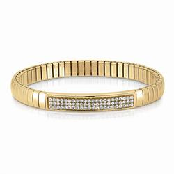 Gold and White Swarovski Extension Bracelet