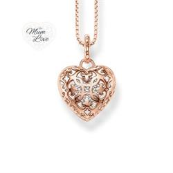 Open Your Heart Arabesque Rose Gold Locket with CZ Heart