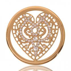 Yellow Gold Wicked Heart Coin 33mm
