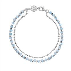 Dower and Hall Sterling Silver Aquamarine Orissa Bracelet
