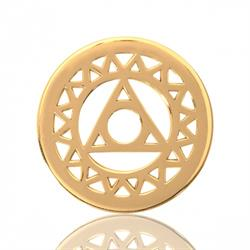 Yellow Gold Magic Triangle Coin 23mm
