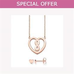 Rose Gold Valentine's Heart Set by Thomas Sabo