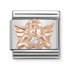 Rose Gold Angel of Family Charm