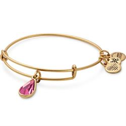 October Rose Birthstone bangle in Rafaelian Gold Finish