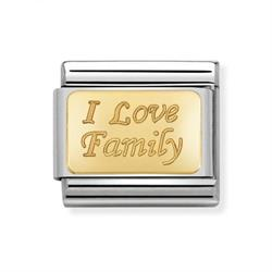 Buy Nomination I Love Family Charm