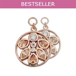 Nikki Lissoni Rose Gold CZ Neutral 15mm Earring Coins