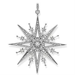 Large Silver Royalty Star Pendant