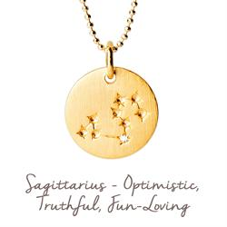 Sagittarius Star Map in Gold