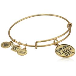 Buy Alex and Ani Because I Am A Girl Bangle in Rafaelian Gold