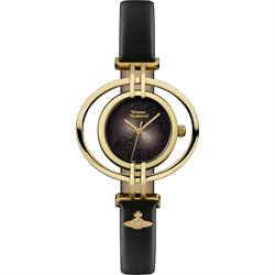 Vivienne Westwood Oval Black and Gold Watch