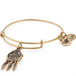 Alex and Ani Swarovski Dreamcatcher Bangle in Rafaelian Gold