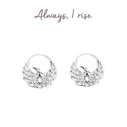Phoenix Stud Earrings in Sterling Silver