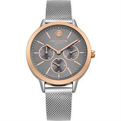 Heidi Grey Mesh Rose Gold Watch