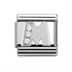 SilverShine Letter M Charm Link