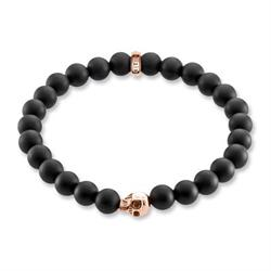 Rebel at Heart Skull Gold Bracelet