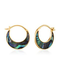Ania Haie Turning Tides Abalone & Gold Crescent Earrings