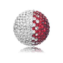 Red and White Crystal Sound Ball Large