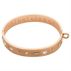 Rose Gold Swarovski Good Vibes Bangle 21cm