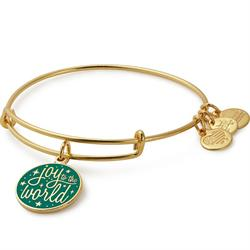 Joy to the World Colour Infusion Bangle in Shiny Gold