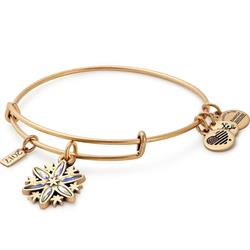CZ 2017 Snowflake Bangle in Rafaelian Gold