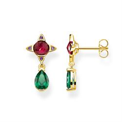 Green and Red Gold Drops