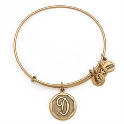 D Initial Bangle in Rafaelian Gold