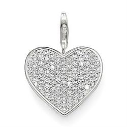 Pave Heart Jewellery Charm