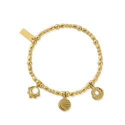 ChloBo Gold Triple Skies Bracelet