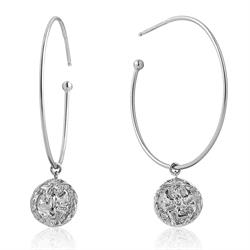 Silver Boreas Hoop Earrings