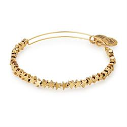 Star Beaded Bangle in Rafaelian Gold