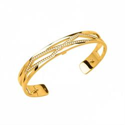Thin Gold CZ Liens Cuff Bangle