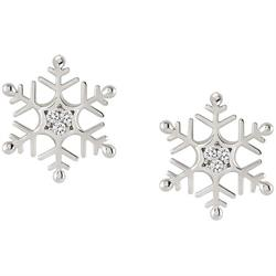Silver CZ Snowflake Studs by Nomination