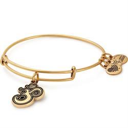 Om Charm Bangle in Rafaelian Gold