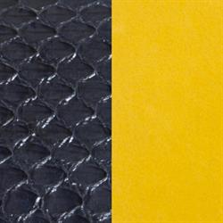 Medium Black Snake / Yellow Leather