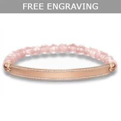 Rose Quartz Love Bridge Bracelet Large