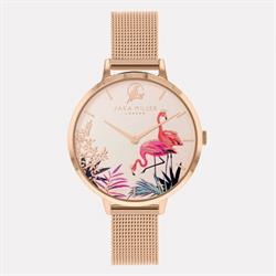 Sara Miller Rose Gold Flamingo Watch