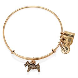 Alex and Ani Monopoly Dog Bangle in Rafaelian Gold