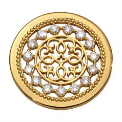 Yellow Gold Vintage Perfection Coin 33mm by Nikki Lissoni