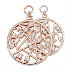 Rose Gold Mixed Cystal 19mm Earring Coins