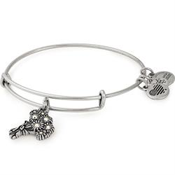 I Pick You Swarovski Bridesmaid Bangle in Rafaelian Silver
