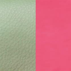 Bright Pink / Grey Slim Leather