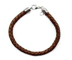Brown Leather Medium Bracelet