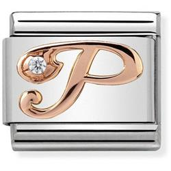 Buy Nomination Rose Gold CZ Letter P