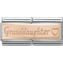 Nomination Rose Gold Grandaughter Double Charm AW19