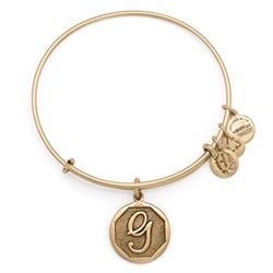 G Initial Bangle in Rafaelian Gold